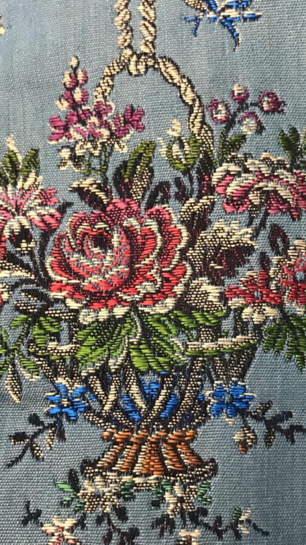 motif fleurs Scarlet bleu